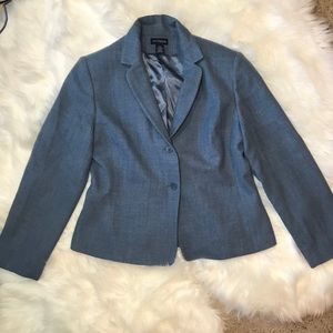 Ann Taylor Wool & Cashmere Jacket in Blue- Size 14